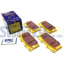 Pastillas de freno delanteras EBC amarillas - Impreza turbo 98-00, WRX 01-07, Nissan...