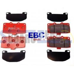 Pastillas de freno delanteras EBC rojas - Impreza turbo 98-00, WRX 01-07, Nissan...