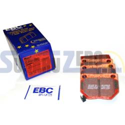 Pastillas de freno traseras EBC rojas - Impreza turbo 98-00, WRX 01-14, Nissan Skyline...