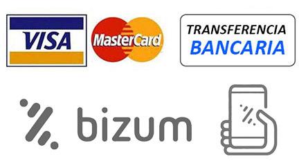Paypal, Visa y Mastercard